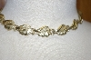 Sarah Coventry Gold Plated Signed Leaf Necklace