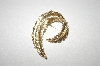 +MBA #S4-292  Gold Plated Leaf Pin