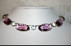 **Purple & Clear Glass Necklace
