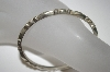 +MBA #S4-209  Vintage Heavy Silver Bangle Bracelet