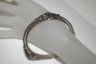"+MBA #S4-211 ""Victorian Two Layer Bangle Bracelet"