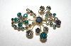 +MBA #S4-262  Made In Austria Multi Colored Crystal Rhinestone  Pin
