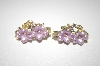 "**MBA #S4-079  Designer ""Star"" Gold Plated Floral Clip Style Earrings"
