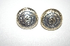 "+MBA #S4-144  ""Made In West Germany Two Tone Clip Style Earrings"