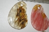 Set Of 2 Large Fancy Cut Agate Beads