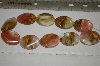 "MBA #23-043    16"" Strand Of Fancy Cut Oval Agate"