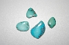"MBA #20-517   ""4 Hand Cut & Polished Fancy Cut Blue Turquoise Stones"