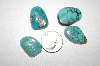 MBA #20-522   4 Fancy Cut & Polished Blue Green Turquoise Stones