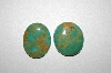 MBA #20-514   2 Large Green Unset Turquoise Stones