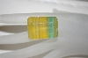 "MBA #23    ""Emerald Cut & Faceted Yellow & Green Quartz Gemstone"