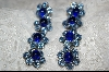 **Made In Austria Blue Crystal Flower Earrings