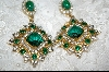 Large Green Crystal Earrings
