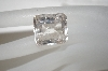 Emerald Cut & Faceted Rutilated Clear Quartz Stone