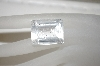 "MBA #23-138   ""Emerald Cut & Faceted Clear Quartz Stone"
