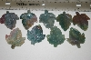 "MBA #23-050   ""Set Of 10 Hand Cut, Polished & Carved Gemstone Leaves"