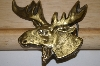 Solid Brass Moose Belt Buckle