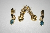 "**MBA #23-521  ""Avon""  2 Pairs Gold Plated Hoops With Charms"