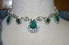 """SOLD""  Ciner 16"" Vintage Faux Emerald Necklace"