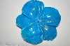 Hand  Cut,  Polished, Carved & Dyed Howlite Flower