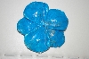 "MBA #23-009   ""Hand Cut, Polished, Carved & Dyed Howlite Flower"