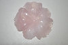 Hand Cut, Polished & Carved Large Rose Quartz Flower