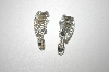 **MBA #23-349  Vintage Fancy Clear Rhinestone Clip Ons