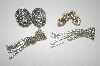 3 Pairs Crystal Pierced Earrings