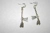 """SOLD""      MBA #23-559  ""Sterling  Artist Signed Tomahawk Earrings"
