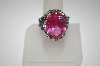 **MBA #23-584  Charles Winston Large Oval Created Pink Sapphire Ring
