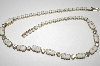 **MBA #23-264  Vintage White Glass & Clear Rhinestone Necklace