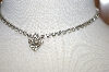 "**Vintage 14"" Clear Crystal Necklace"