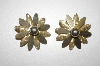 **MBA #25-515  Sarah Coventry Gold Tone Flower Clip Ons