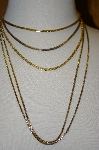 **Set Of 4 Vintage Gold Plated Chains