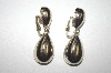 **MBA #S4-324  Bergere Gold Tone Dangle Clip On Earrings