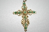 **MBA #25-344  Vintage Gold Plated Cross Pendant