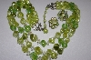 **MBA #25-369  Coro Green Acrylic Earrings & Necklace Set