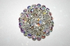 +MBA #25-773  Vintage Round AB Crystal Pin