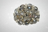+MBA #25-598  Vintage Silver AB Crystal Bead Pin