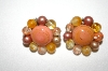 **MBA #25-665  Vintage Made In Japan Multi Colored Glass Bead Clip On's