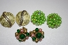 **MBA #25-635  3 Pairs Of Vintage Clip On Earrings