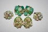 **MBA #25-631  3 Pairs Of Vintage Clip On Earrings