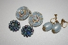 "**MBA #25-629  3 Pairs Of Vintage ""Blue"" Earrings"