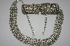 **Vintage Clear Rhinestone Chocker & Bracelet Set
