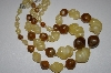 **MBA #25-578  Vintage Made In Germany Acrylic Bead Necklace