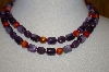 **MBA #25-564  Vintage Made In Hong Kong Fancy Acrylic Bead Necklace