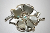 +MBA #25-760  Vintage Silver Tone Flower Pin