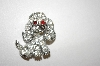 **MBA #25-796  Pell Vintage Clear Rhineston Poodle Pin