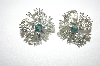 **MBA #24-105  Coro Silver Tone Clip On Earrings