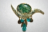 **MBA #25-319  Gold Tone Abstract Enameled Pin