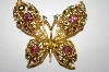 **MBA #25-243   Avon Gold Tone Butterfly Pin